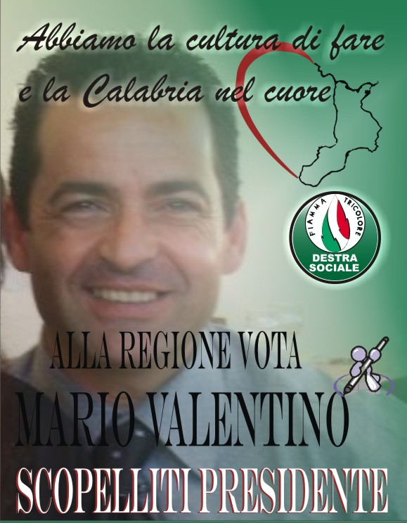 VALENTINO MARIO ELEZIONI REGIONALI 2010
