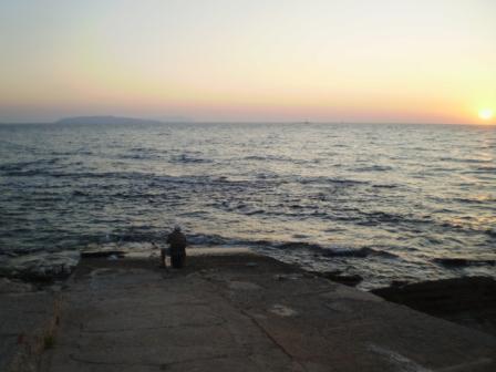 Lo scivolo al tramonto