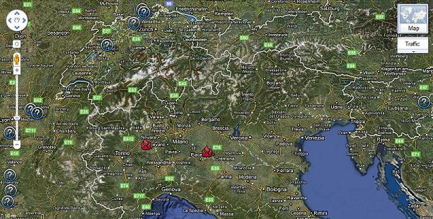 mappa centrali nucleari vicino all'italia
