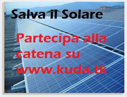 Catena di blog per chiedere la reintroduzione della norma che obbliga a fornire tutti i nuovi edifici di pannelli solari