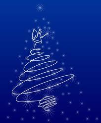 Angelo e albero di Natale