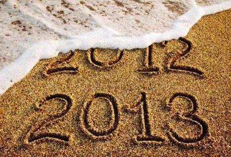2013 scritto sulla sabbia