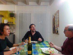 Caldonazzo: il maestro Gentile Polo a cena con l'artista Sabrina Broll.