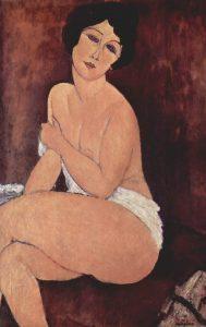 Amedeo Modigliani - Nudo disteso su un divano - 1917