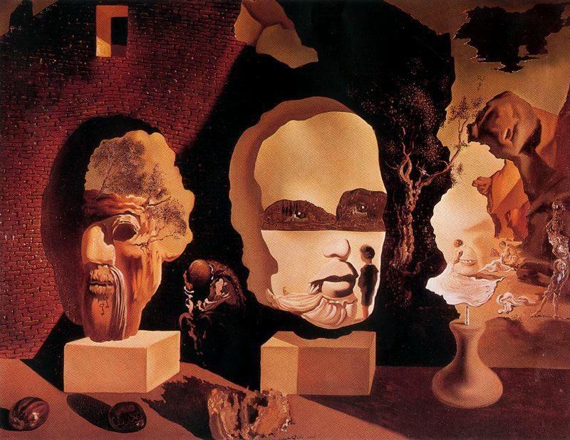 Salvador Dalí - Le tre età (la vecchiaia, l'adolescenza, l'infanzia) - 1940 - Studio Petersburg Florida, Salvador Dalí Museum