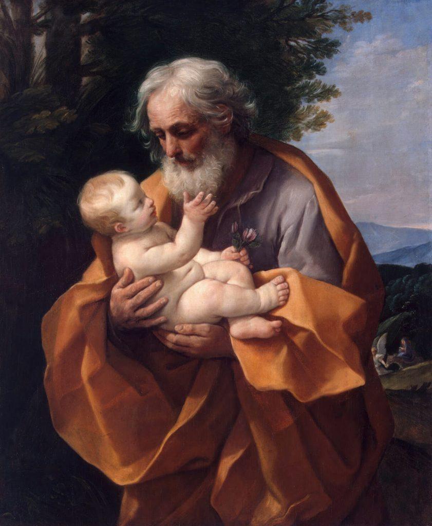 Guido Reni - San Giuseppe con Bambin Gesù - olio su tela - 126 x 101 cm - 1620