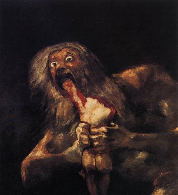 Francisco Goya - Saturno che divora i suoi figli - 1819-1823 - Olio su tela - Museo del Prado, Madrid