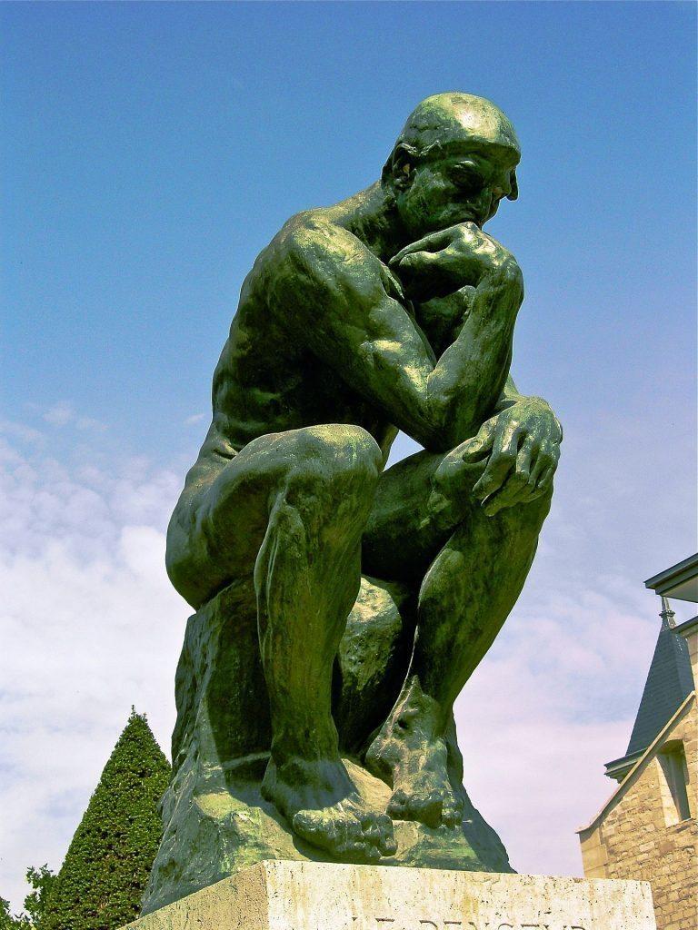 Il pensatore - 1880 - 1902 - Fusione in bronzo - 200×130×140 cm - Musée Rodin, Parigi