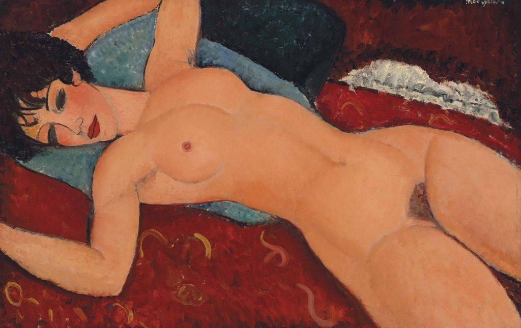Amedeo Modigliani - Nudo sdraiato - 1917-1918 - Olio su tela - 60×92 cm -Collezione Gianni Mattioli, Milano