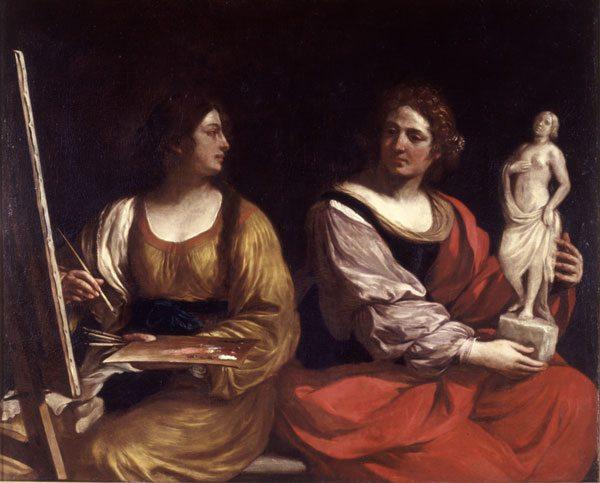 Guercino – Allegoria della pittura e scultura – 1637 – Roma, Galleria Nazionale d'Arte Antica di Palazzo Barberini