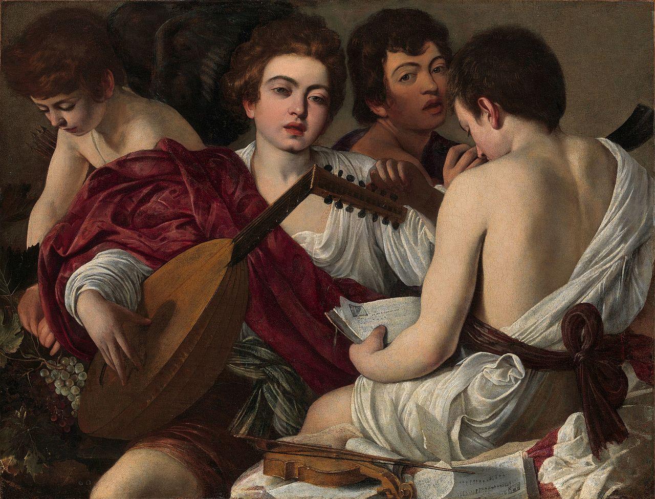 Caravaggio -I musici - 1595 ca - Olio su tela - 92,1 × 118,4 cm - New York, Metropolitan Museum of Art.