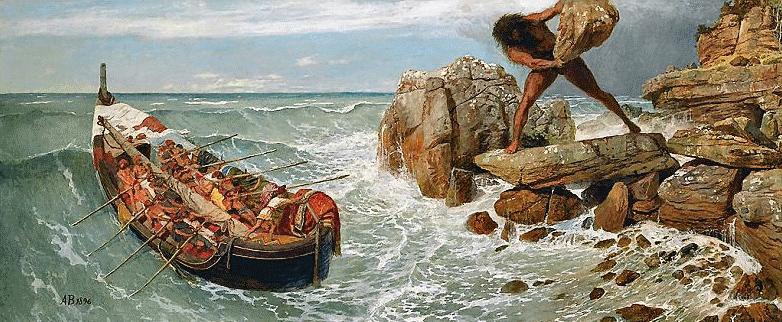 Arnoldo Böcklin - Ulisse e Polifemo - 1896