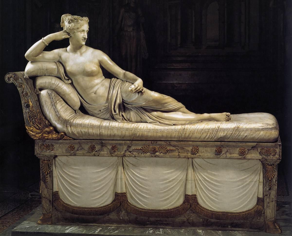 Paolina Borghese come Venere vincitrice (1804-1808), Galleria Borghese, Roma