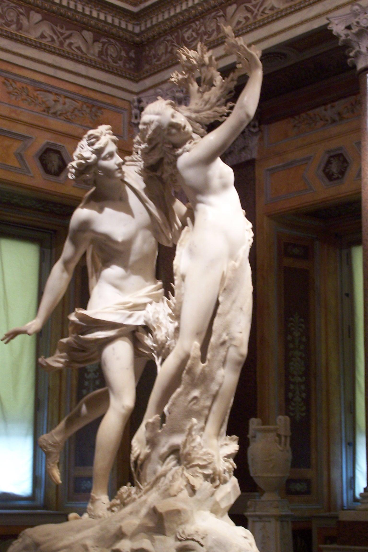 Apollo e Dafne - 1622-1625, marmo - h. 243 cm - Roma, Galleria Borghese.