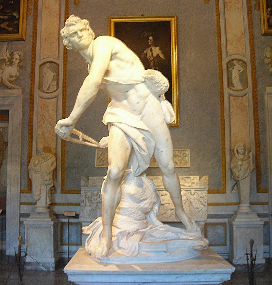 Davide - 1623-24 - Marmo - 170 cm - Galleria Borghese, Roma