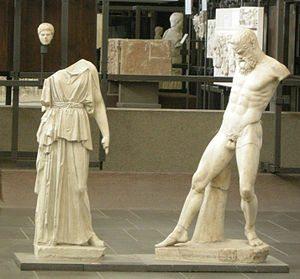 Atena e Marsia - Copia romana da un originale greco del 450 a.C. circa - Marmo - Musei Vaticani, Roma