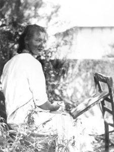 Charlotte mentre dipinge - 1939