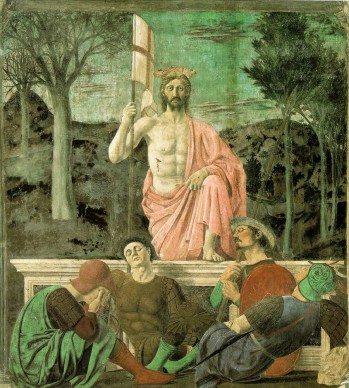Piero della Francesca, Resurrezione, 1450-63. Affresco, Museo Civico, Sansepolcro
