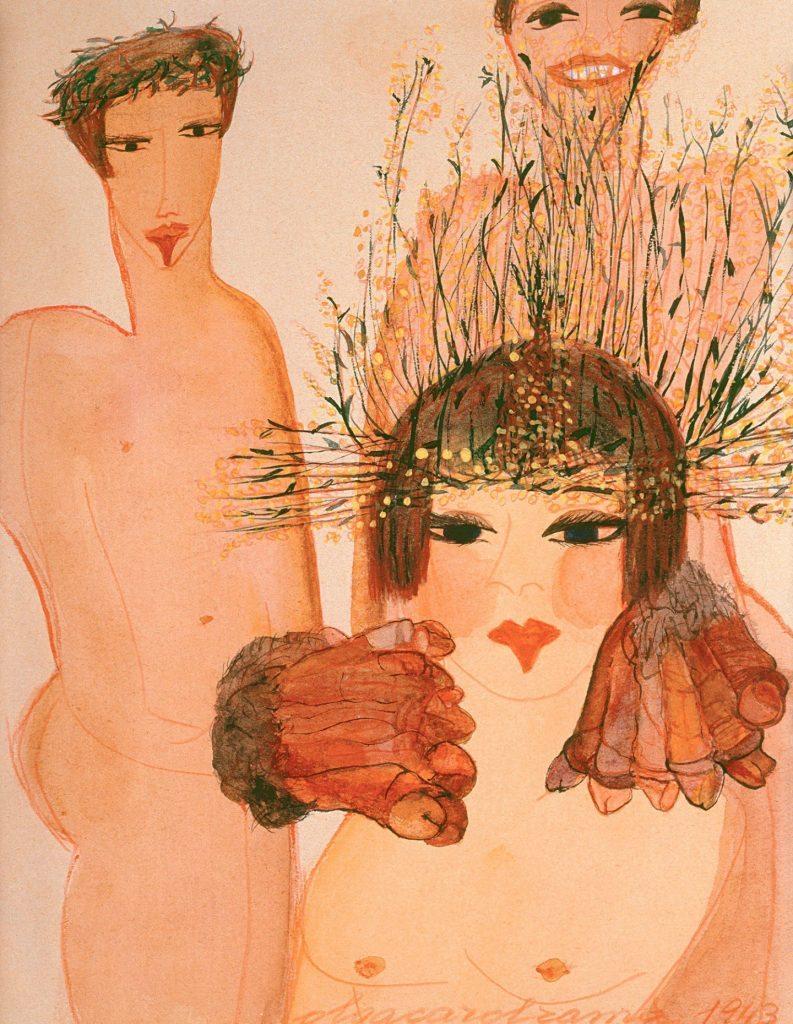 """Carol Rama, """"Appassionata"""" (1943). Courtesy GAM e Fondazione Torino Musei, Torino."""