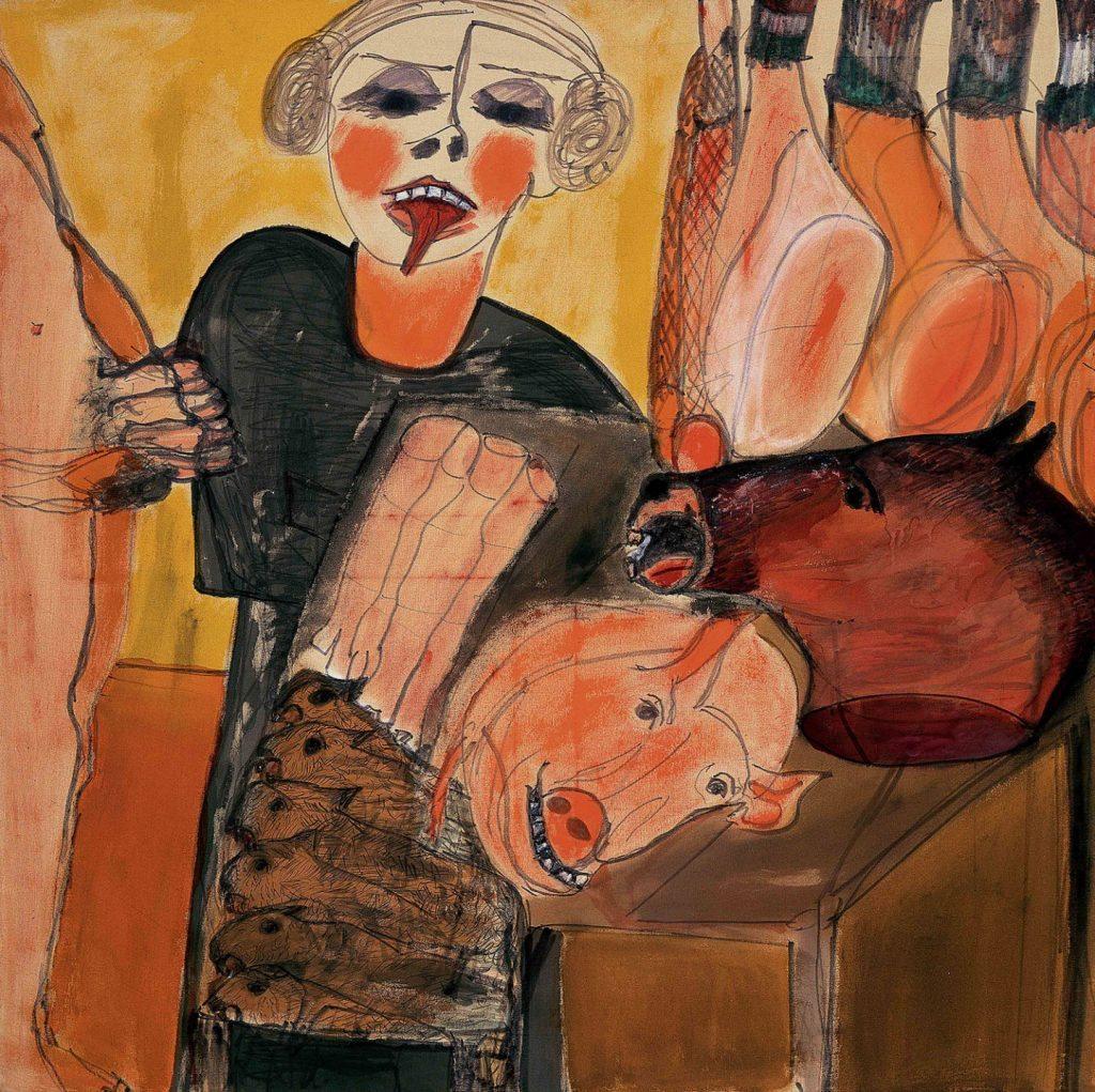 """Carol Rama, """"La macelleria"""" (1980). Collezione privata, Courtesy GAM e Fondazione Torino Musei, Torino."""