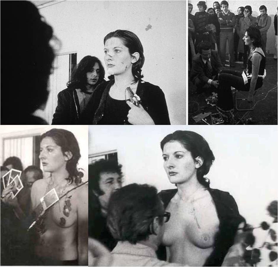 Marina Abramović, Rhythm 0, 1974, Napoli, Studio Morra Gallery