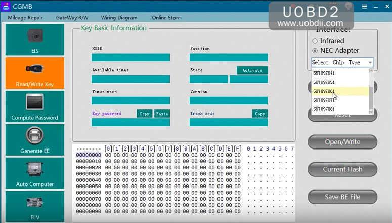 Come usare CGDI MB Prog per leggere / Cancella / Scrivi chip Mercedes Benz NEC