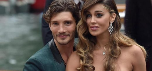 Argentine actress and model Belen Rodriguez  and and her husband, dancer Stefano De Martino (L) arrive at the Lido Beach during the 71st annual Venice International Film Festival, in Venice, Italy, 04 September 2014. The festival runs from 27 August to 06 September.     ANSA/ETTORE FERRARI