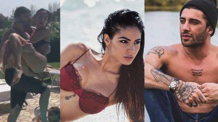 Iannone e De Lellis giocano in piscina: amore sotto il sole