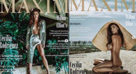 Cecilia Rodriguez nuda su Maxim, la sorellina di Belen si prende la doppia copertina