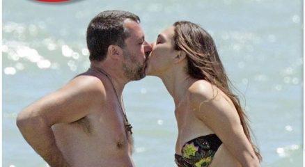 Matteo Salvini e Francesca Verdini, baci e coccole a Milano Marittima