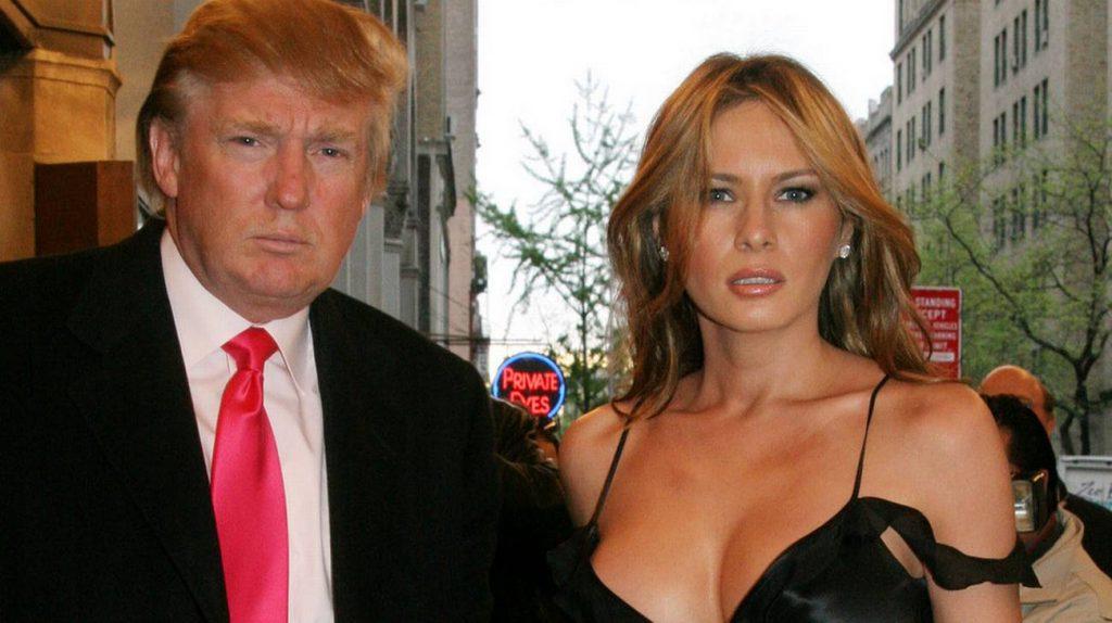 Donald Trump con la moglie Melania