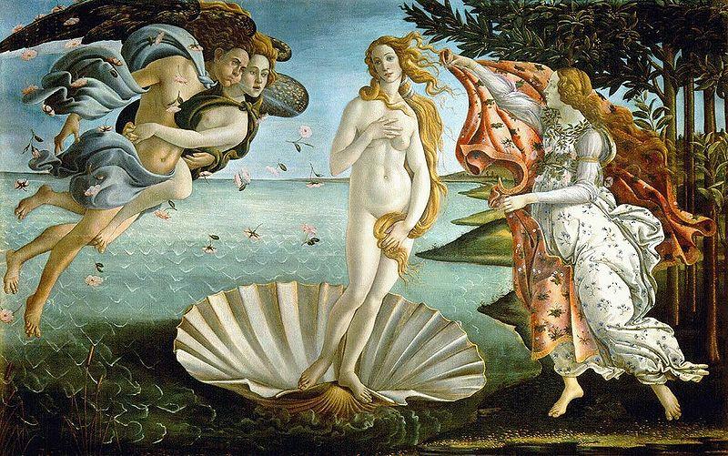 Botticelli Nascita di Venere