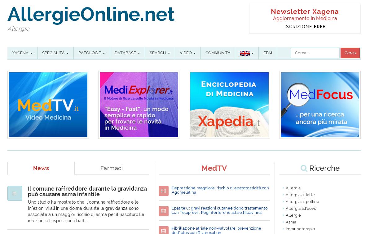 AllergieOnline.net.Xagena_Network