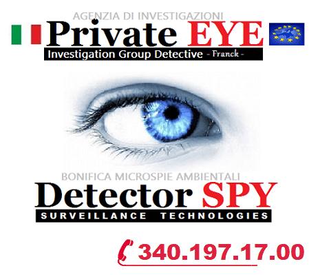 Agenzia Investigativa Private EYE –  Bonifiche microspie Spy