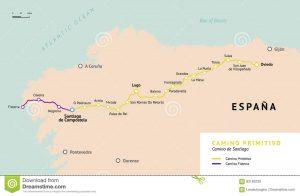 camino-primitivo-map-camino-de-santiago-spain-original-route-oviedo-way-st-james-ancient-pilgrimage-path-to-93183230