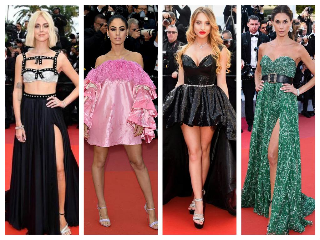 Chiara ferragni, Giulia De Lellis, Tanya La Gatta e Melissa Satta, bellezze italiane al Festival di Cannes