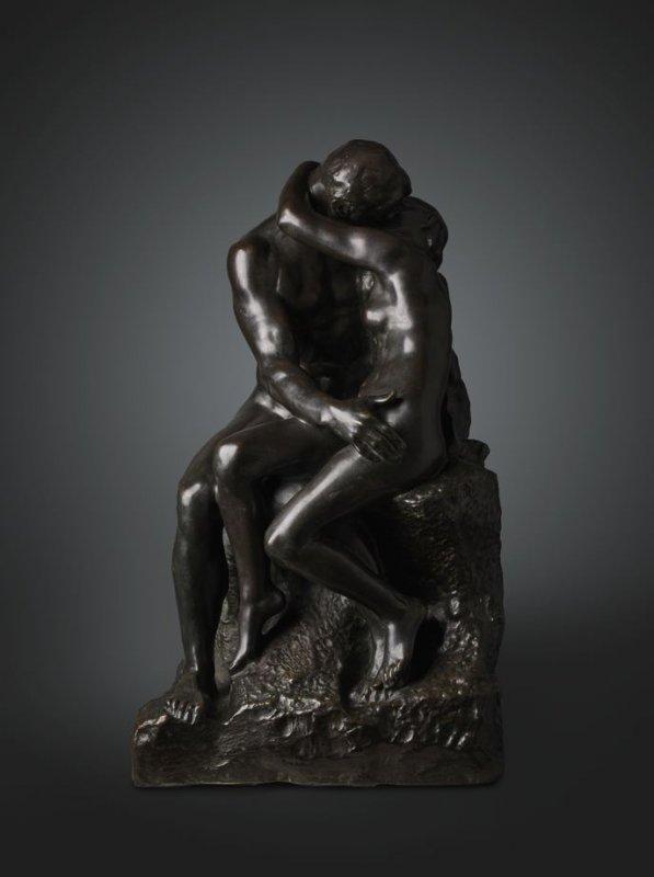 il bacio bronzo
