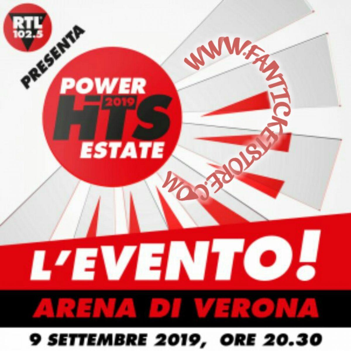 Biglietti 102.5 Power Hits Estate 2019