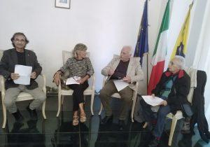 Da destra verso sinistra: Claudio Correale, Iaia di Marco, Giuseppe Luongo, Eleonora Puntillo