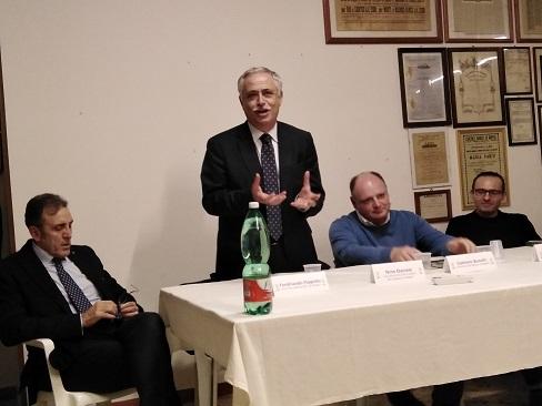 Da sinistra: Ferdinando Flagiello, Nino Daniele, Gaetano Bonelli, Giovanni Ardimento