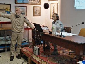 Da sinistra il Prof. Antonio Mussari, Presidente del Museo del Mare, e Claudio Correale Presidente di Lux In Fabula