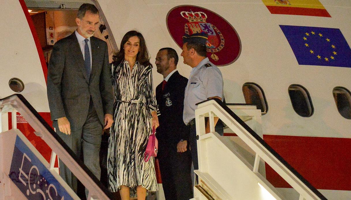 I look di Letizia di Spagna a Cuba
