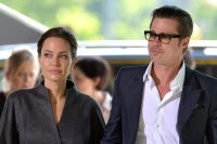 Photo filed Tuesday 20th September 2016-Angelina Jolie files for divorce from Brad Pitt after 12 years together and requests custody of the couple's six children Image ©Licensed to i-Images Picture Agency. 13/06/2014.  Brad Pitt and Angelina Jolie arrive at the End Sexual Violence In Conflict Global Summit 2014 at The ExCel, London, UK.  Picture by i-Images  Angelina Jolie divorzia da Brad Pitt Foto d'archivio LaPresse  -- Only Italy