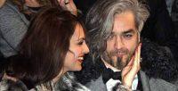 Milan Fashion Week, Man Fall Winter 2012. Moda Uomo, Autunno Inverno 2012 - Sfilata John Richmond - Nel Parterre: Morgan con Jessica Mazzoli