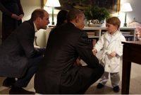 baby George e Barack Obama