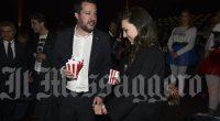 Ministro Matteo Salvini con la nuova fidanzata Francesca Verdini alla prima di Dumbo al cinema The Space Moderno. foto Paolo Caprioli/Ag.Toiati