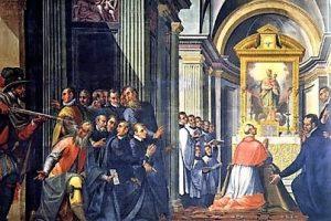 Duomo di Milano: il quadrone sull'attentato a Carlo Borromeo.