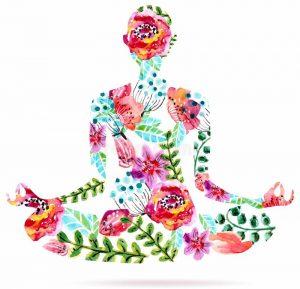 posa-di-yoga-illustrazione-floreale-luminosa-dell-acquerello-46683010