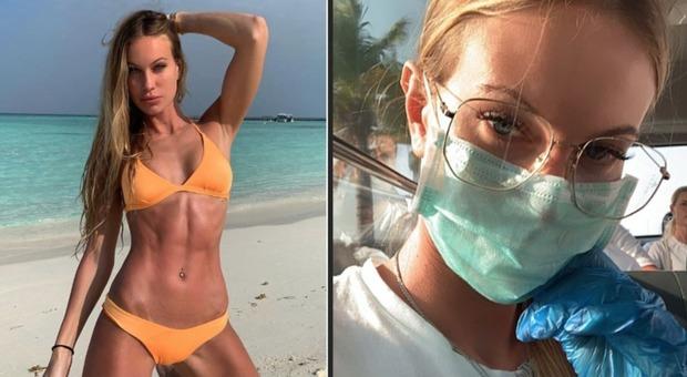 Taylor Mega e il Coronavirus: dalle Maldive a Milano, vola con mascherina e guanti