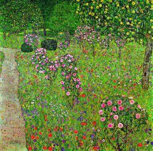 gustav-klimt-frutteto-con-giardino-di-rose